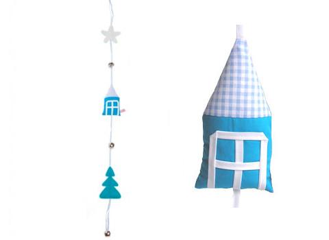 Slinger huisje blauw