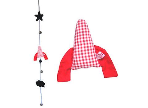 Slinger raket rood