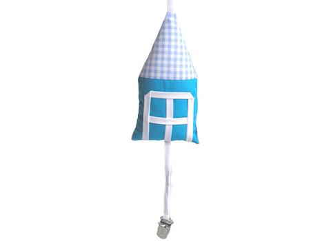 Speenkoord Huisje blauw