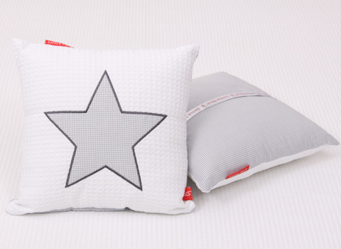 Knuffelkussen Star cool grey