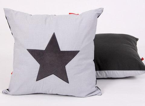 Sierkussen Star cool grey