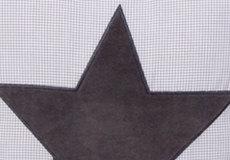 Sierkussen Star cool grey applicatie
