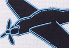 Sierkussen Vliegtuig applicatie