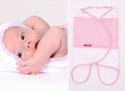 Baby badcape roze