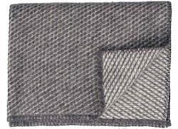 Ledikantdeken Velvet wol grijs