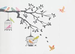 Muurstickers Birds on a tree