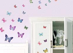 Muurstickers Vlinders vibrant