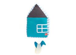 Muziekdoosje Huis blauw