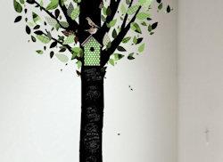 Schoolbordsticker boom groen