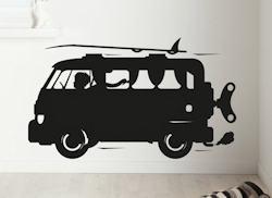 Schoolbordsticker surfbus