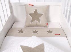 wieglaken Stars beige