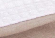 Dekenhoes wieg pure beige stof