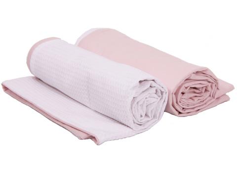 Dekenhoes wieg pure pink
