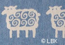 Ledikantdeken Schaap katoen blauw dessin
