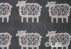 Ledikantdeken Schaap katoen grijs dessin