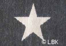 Ledikantdeken Stars katoen grijs dessin