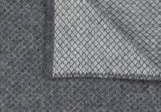 Ledikantdeken Vega wol grijs afwerking
