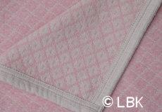 Ledikantdeken Vega katoen pink dessin