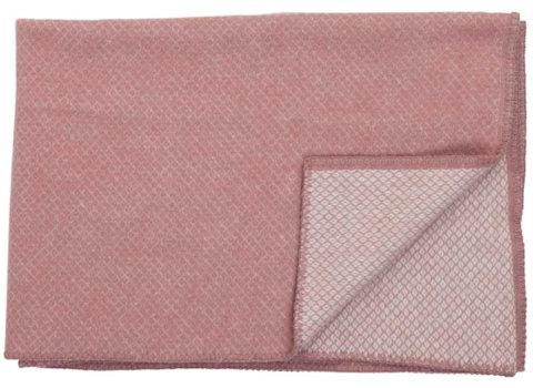 Ledikantdeken Vega wol roze