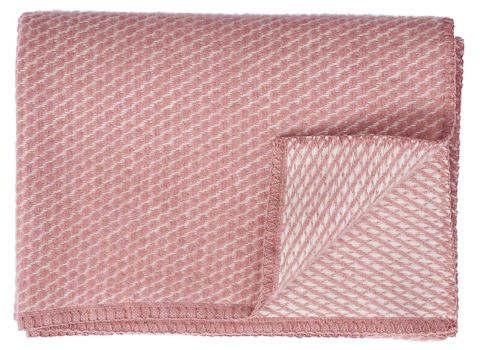 Ledikantdeken Velvet wol roze