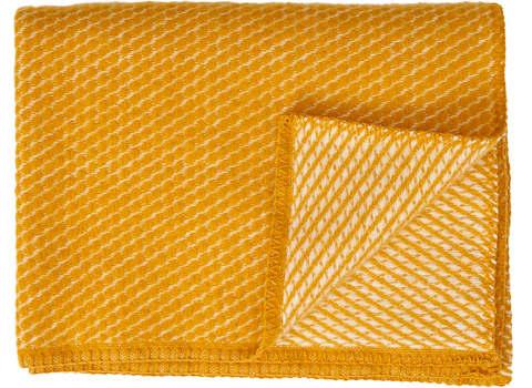 Ledikantdeken Velvet wol saffraan