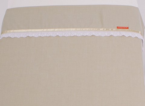 Ledikantlaken Natural beige satin
