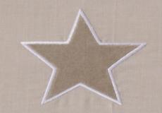 Ledikantlaken Stars beige motief