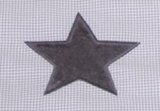 Ledikantlaken Stars cool grey motief