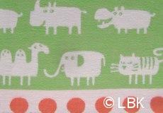 Wiegdeken Africa katoen groen dessin