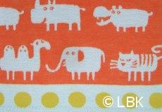 Wiegdeken Africa katoen oranje dessin