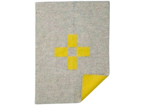 Wiegdeken Cross yellow
