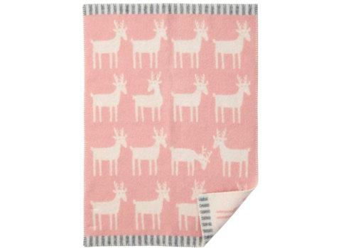Wiegdeken Dear wol pale pink
