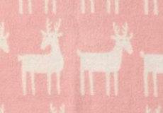Wiegdeken Dear wol pale pink dessin