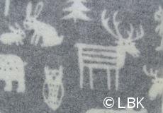 Wiegdeken Forest wol grijs dessin