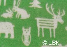 Wiegdeken Forest wol groen dessin