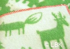 Wiegdeken Forest wol groen afwerking