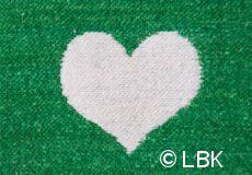 Wiegdeken Hartjes katoen groen dessin