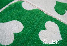 Wiegdeken Hartjes katoen groen afwerking