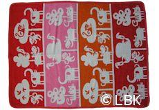 Wiegdeken Safari katoen roze dessin