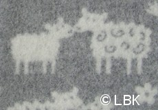 Wiegdeken Schaap wol grijs dessin