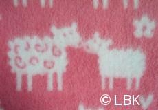 Wiegdeken Schaap wol roze dessin