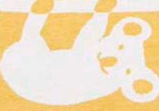 Wiegdeken Siesta geel dessin
