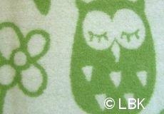 Wiegdeken Uil wol groen dessin