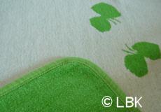 Wiegdeken Vlinders groen Klippan dessin