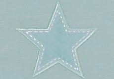 Wieglaken Stars aqua applicatie