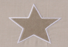 Wieglaken Stars beige applicatie