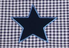 Wieglaken Stars blue applicatie