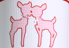 Hanglamp Hertjes pink applicatie