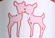 Hanglamp Hertjes pink applicatie