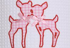 Wandlamp Hertjes pink applicatie